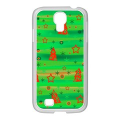 Green Xmas magic Samsung GALAXY S4 I9500/ I9505 Case (White)