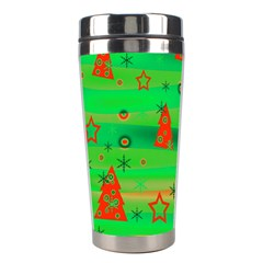 Green Xmas magic Stainless Steel Travel Tumblers