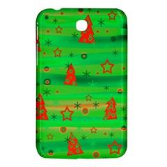 Green Xmas magic Samsung Galaxy Tab 3 (7 ) P3200 Hardshell Case