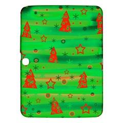 Green Xmas magic Samsung Galaxy Tab 3 (10.1 ) P5200 Hardshell Case