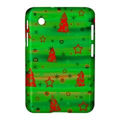 Green Xmas magic Samsung Galaxy Tab 2 (7 ) P3100 Hardshell Case