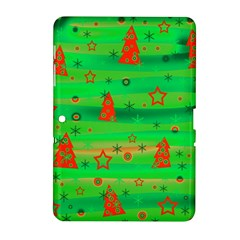 Green Xmas magic Samsung Galaxy Tab 2 (10.1 ) P5100 Hardshell Case