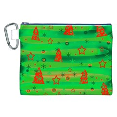 Green Xmas magic Canvas Cosmetic Bag (XXL)