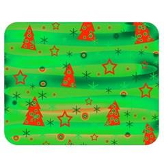 Green Xmas magic Double Sided Flano Blanket (Medium)