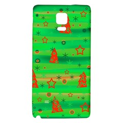 Green Xmas magic Galaxy Note 4 Back Case