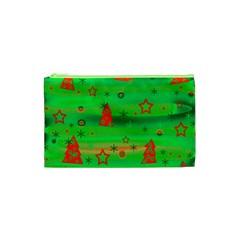Green Xmas magic Cosmetic Bag (XS)