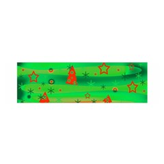 Green Xmas magic Satin Scarf (Oblong)