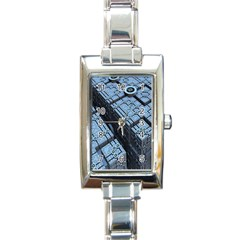 Grid Maths Geometry Design Pattern Rectangle Italian Charm Watch