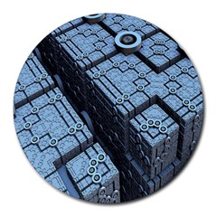 Grid Maths Geometry Design Pattern Round Mousepads