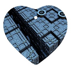 Grid Maths Geometry Design Pattern Ornament (Heart)