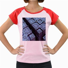 Grid Maths Geometry Design Pattern Women s Cap Sleeve T-Shirt