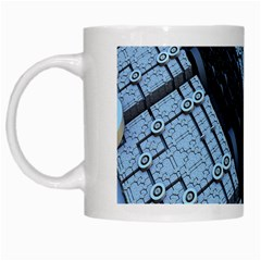 Grid Maths Geometry Design Pattern White Mugs