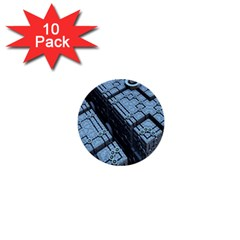 Grid Maths Geometry Design Pattern 1  Mini Buttons (10 pack)