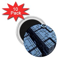 Grid Maths Geometry Design Pattern 1.75  Magnets (10 pack)
