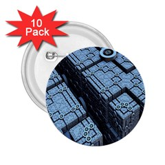 Grid Maths Geometry Design Pattern 2.25  Buttons (10 pack)