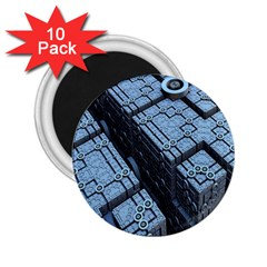 Grid Maths Geometry Design Pattern 2.25  Magnets (10 pack)
