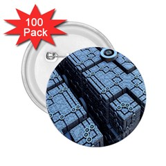 Grid Maths Geometry Design Pattern 2.25  Buttons (100 pack)