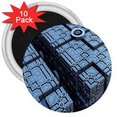 Grid Maths Geometry Design Pattern 3  Magnets (10 pack)