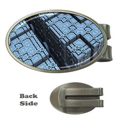Grid Maths Geometry Design Pattern Money Clips (Oval)