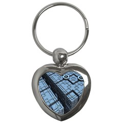 Grid Maths Geometry Design Pattern Key Chains (Heart)