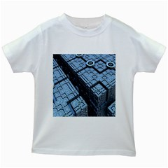 Grid Maths Geometry Design Pattern Kids White T-Shirts