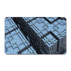 Grid Maths Geometry Design Pattern Magnet (Rectangular)