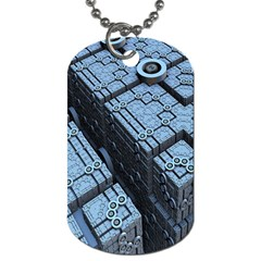 Grid Maths Geometry Design Pattern Dog Tag (One Side)