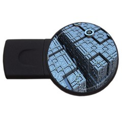 Grid Maths Geometry Design Pattern USB Flash Drive Round (1 GB)