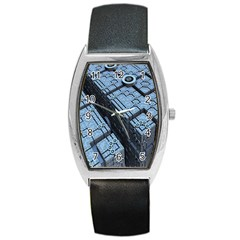 Grid Maths Geometry Design Pattern Barrel Style Metal Watch