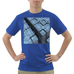 Grid Maths Geometry Design Pattern Dark T-Shirt