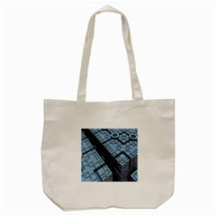 Grid Maths Geometry Design Pattern Tote Bag (Cream)