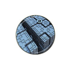 Grid Maths Geometry Design Pattern Hat Clip Ball Marker (4 pack)