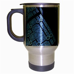 Grid Maths Geometry Design Pattern Travel Mug (Silver Gray)