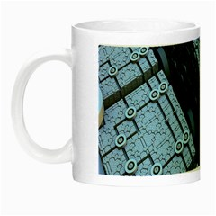 Grid Maths Geometry Design Pattern Night Luminous Mugs