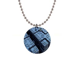 Grid Maths Geometry Design Pattern Button Necklaces