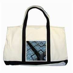 Grid Maths Geometry Design Pattern Two Tone Tote Bag