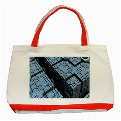 Grid Maths Geometry Design Pattern Classic Tote Bag (Red)