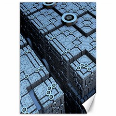 Grid Maths Geometry Design Pattern Canvas 12  x 18