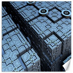 Grid Maths Geometry Design Pattern Canvas 20  x 20