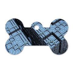 Grid Maths Geometry Design Pattern Dog Tag Bone (Two Sides)