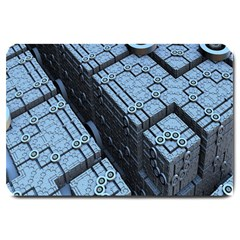 Grid Maths Geometry Design Pattern Large Doormat
