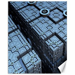 Grid Maths Geometry Design Pattern Canvas 11  x 14