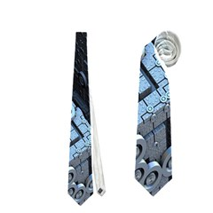 Grid Maths Geometry Design Pattern Neckties (One Side)