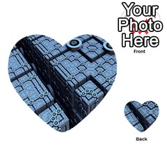 Grid Maths Geometry Design Pattern Multi-purpose Cards (Heart)