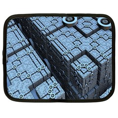 Grid Maths Geometry Design Pattern Netbook Case (Large)
