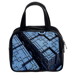 Grid Maths Geometry Design Pattern Classic Handbags (2 Sides)