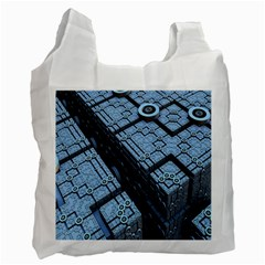 Grid Maths Geometry Design Pattern Recycle Bag (Two Side)