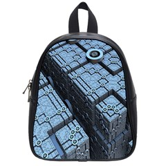 Grid Maths Geometry Design Pattern School Bags (Small)