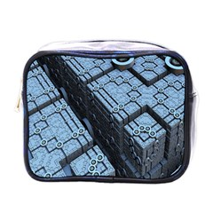 Grid Maths Geometry Design Pattern Mini Toiletries Bags