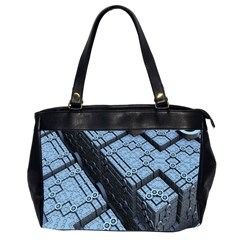 Grid Maths Geometry Design Pattern Office Handbags (2 Sides)